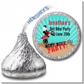 Dirt Bike - Hershey Kiss Birthday Party Sticker Labels
