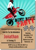 Dirt Bike - Birthday Party Invitations