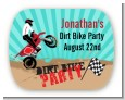 Dirt Bike - Personalized Birthday Party Rounded Corner Stickers thumbnail