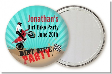 Dirt Bike - Personalized Birthday Party Pocket Mirror Favors
