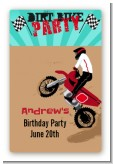 Dirt Bike - Custom Large Rectangle Birthday Party Sticker/Labels