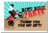 Dirt Bike - Birthday Party Thank You Cards