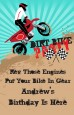 Dirt Bike - Personalized Birthday Party Wall Art thumbnail