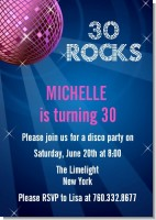 Disco Ball - Birthday Party Invitations