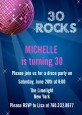 Disco Ball - Birthday Party Invitations thumbnail