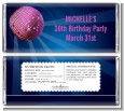Disco Ball - Personalized Birthday Party Candy Bar Wrappers thumbnail
