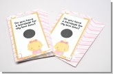 Little Girl Nurse On The Way - Baby Shower Scratch Off Game Tickets
