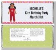 Doll Party African American - Personalized Birthday Party Candy Bar Wrappers thumbnail