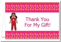 Doll Party African American - Birthday Party Thank You Cards