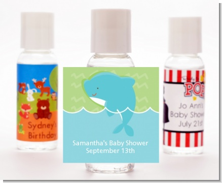 Dolphin | Aquarius Horoscope - Personalized Baby Shower Hand Sanitizers Favors