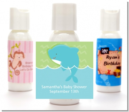 Dolphin | Aquarius Horoscope - Personalized Baby Shower Lotion Favors