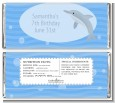 Dolphin - Personalized Birthday Party Candy Bar Wrappers thumbnail