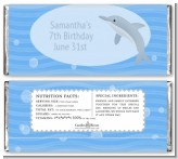 Dolphin - Personalized Birthday Party Candy Bar Wrappers