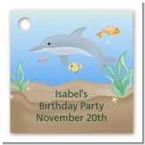 Dolphin - Personalized Birthday Party Card Stock Favor Tags