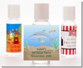 Dolphin - Personalized Birthday Party Hand Sanitizers Favors