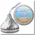 Dolphin - Hershey Kiss Birthday Party Sticker Labels thumbnail