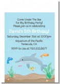 Dolphin - Birthday Party Petite Invitations