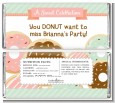Donut Party - Personalized Birthday Party Candy Bar Wrappers thumbnail