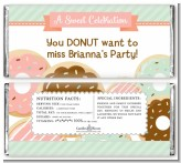 Donut Party - Personalized Birthday Party Candy Bar Wrappers