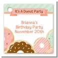 Donut Party - Personalized Birthday Party Card Stock Favor Tags thumbnail
