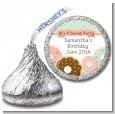 Donut Party - Hershey Kiss Birthday Party Sticker Labels thumbnail