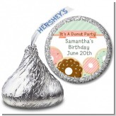 Donut Party - Hershey Kiss Birthday Party Sticker Labels