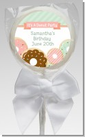 Donut Party - Personalized Birthday Party Lollipop Favors