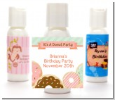 Donut Party - Personalized Birthday Party Lotion Favors