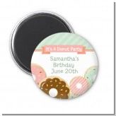 Donut Party - Personalized Birthday Party Magnet Favors