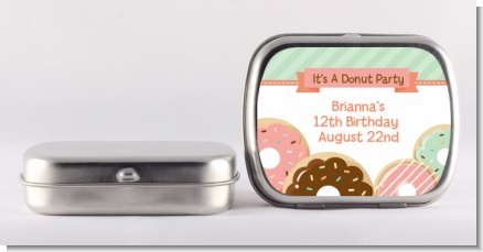 Donut Party - Personalized Birthday Party Mint Tins