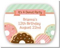 Donut Party - Personalized Birthday Party Rounded Corner Stickers