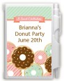 Donut Party - Birthday Party Personalized Notebook Favor thumbnail