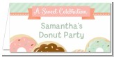 Donut Party - Personalized Birthday Party Place Cards