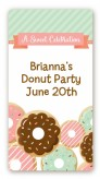 Donut Party - Custom Rectangle Birthday Party Sticker/Labels