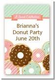 Donut Party - Custom Large Rectangle Birthday Party Sticker/Labels
