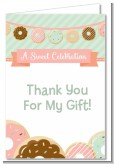 Donut Party - Birthday Party Thank You Cards
