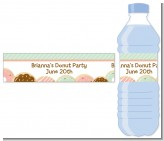 Donut Party - Personalized Birthday Party Water Bottle Labels