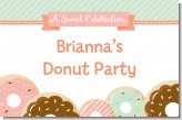 Donut Party - Personalized Birthday Party Placemats
