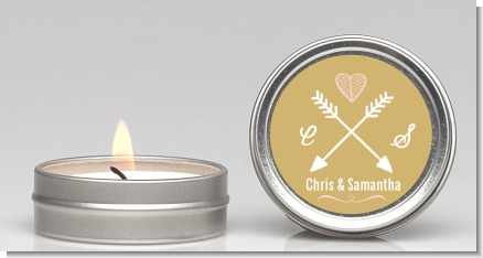 Double Arrows - Bridal Shower Candle Favors