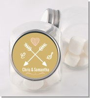 Double Arrows - Personalized Bridal Shower Candy Jar