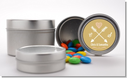 Double Arrows - Custom Bridal Shower Favor Tins