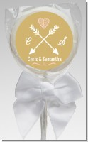 Double Arrows - Personalized Bridal Shower Lollipop Favors