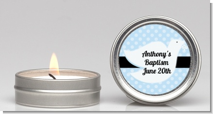 Dove Blue - Baptism / Christening Candle Favors