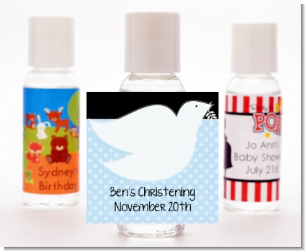 Dove Blue - Personalized Baptism / Christening Hand Sanitizers Favors