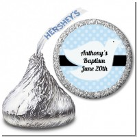 Dove Blue - Hershey Kiss Baptism / Christening Sticker Labels