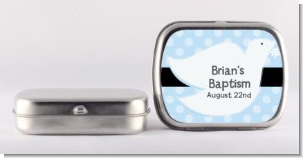 Dove Blue - Personalized Baptism / Christening Mint Tins
