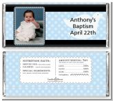 Dove Blue Photo - Personalized Baptism / Christening Candy Bar Wrappers