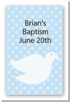 Dove Blue - Custom Large Rectangle Baptism / Christening Sticker/Labels