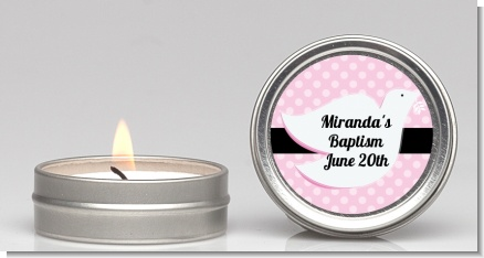 Dove Pink - Baptism / Christening Candle Favors