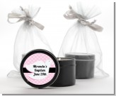 Dove Pink - Baptism / Christening Black Candle Tin Favors